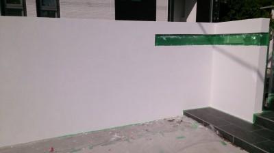 ご新築 塗壁①